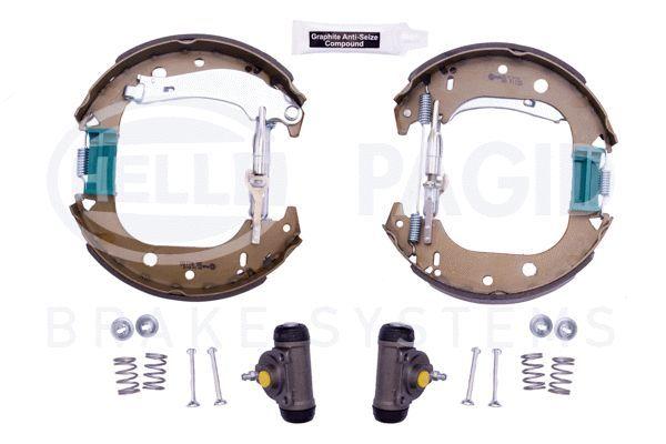 Bremsensatz, Trommelbremse 8DB 355 004-851 HELLA R1190 in Original Qualität