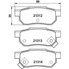 Комплект спирачно феродо, дискови спирачки ширина: 88,8мм, височина: 35,1мм, дебелина: 13мм с ОЕМ-номер GBP90316AF