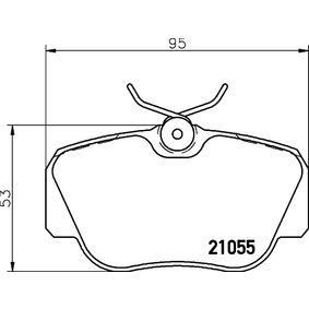 Bremsbelagsatz, Scheibenbremse Breite: 94,7mm, Höhe: 53mm, Dicke/Stärke: 17,9mm mit OEM-Nummer 701 698 451 C