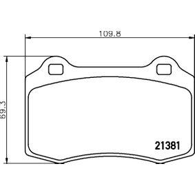 Bremsbelagsatz, Scheibenbremse Breite: 109,8mm, Höhe: 69,3mm, Dicke/Stärke: 15mm mit OEM-Nummer 3068385-8