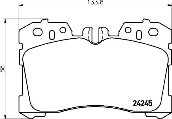 Bremsbeläge 8DB 355 006-661 HELLA 8398D1282 in Original Qualität