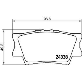 Bremsbelagsatz, Scheibenbremse Breite: 96,8mm, Höhe: 49,2mm, Dicke/Stärke: 15,4mm mit OEM-Nummer 04466YZZE8