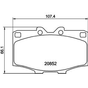 Bremsbelagsatz, Scheibenbremse Breite: 107,3mm, Höhe: 66,0mm, Dicke/Stärke: 15,5mm mit OEM-Nummer 04465 60 010