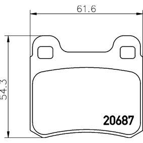 Bremsbelagsatz, Scheibenbremse Breite: 61,6mm, Höhe: 54,3mm, Dicke/Stärke: 15,5mm mit OEM-Nummer A 000 420 9820