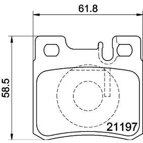 Bremsbelagsatz, Scheibenbremse Breite: 61,6mm, Höhe: 58,3mm, Dicke/Stärke: 15mm mit OEM-Nummer A00 142 01 320