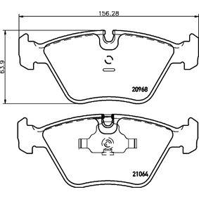 Bremsbelagsatz, Scheibenbremse Breite: 156,3mm, Höhe: 63,9mm, Dicke/Stärke: 20,3mm mit OEM-Nummer 34 11 2 282 416