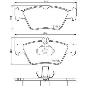 Bremsbelagsatz, Scheibenbremse Breite: 151,3mm, Höhe 1: 60mm, Höhe 2: 66,2mm, Dicke/Stärke: 19,8mm mit OEM-Nummer A00 442 002 2067