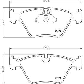 Bremsbelagsatz, Scheibenbremse Breite: 156,3mm, Höhe: 63,9mm, Dicke/Stärke: 20,3mm mit OEM-Nummer 34 11 1 163 387