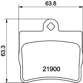 Bremsbelagsatz, Scheibenbremse Breite: 63,9mm, Höhe: 63,1mm, Dicke/Stärke: 15,8mm mit OEM-Nummer A00 242 05120