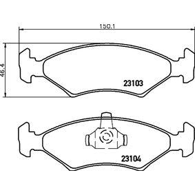 Bremsbelagsatz, Scheibenbremse Breite: 151,4mm, Höhe: 46,4mm, Dicke/Stärke: 17,5mm mit OEM-Nummer 1010 503