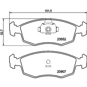 Bremsbelagsatz, Scheibenbremse Breite: 151,3mm, Höhe: 52,5mm, Dicke/Stärke: 18mm mit OEM-Nummer 994 8131