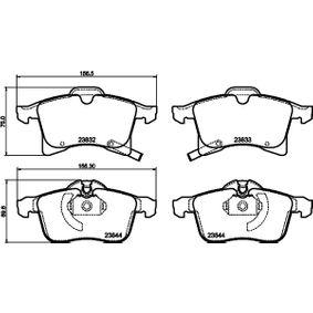 Комплект спирачно феродо, дискови спирачки ширина 1: 156,3мм, ширина 2: 155,1мм, височина 1: 76мм, височина 2: 69,7мм, дебелина 1: 19,6мм, дебелина 2: 20,6мм с ОЕМ-номер 23832