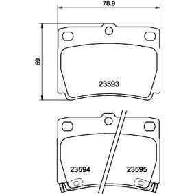 Kit pastiglie freno, Freno a disco 8DB 355 009-501 Pajero Sport 1 SUV (K7_, K9_) 2.0 GDi 4WD ac 2005