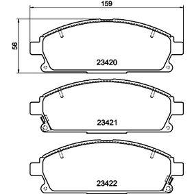 Комплект спирачно феродо, дискови спирачки 8DB 355 009-661 MDX (YD) 3.5 (YD1) Г.П. 2003