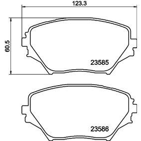 Brake Pad Set, disc brake 8DB 355 009-741 RAV 4 II (CLA2_, XA2_, ZCA2_, ACA2_) 2.0 MY 2003