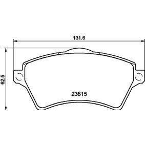 Bremsbelagsatz, Scheibenbremse Breite: 131,6mm, Höhe: 62,3mm, Dicke/Stärke: 17,5mm mit OEM-Nummer 23615