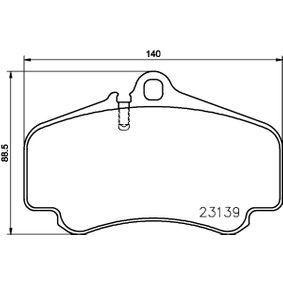 Bremsbelagsatz, Scheibenbremse Breite: 140mm, Höhe: 88,5mm, Dicke/Stärke: 17mm mit OEM-Nummer 996 351 949 10