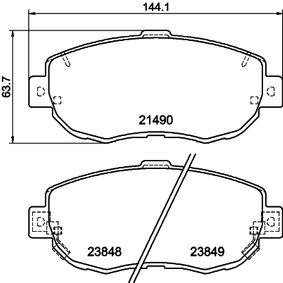Bremsbelagsatz, Scheibenbremse Breite: 144,1mm, Höhe: 63,7mm, Dicke/Stärke: 17,1mm mit OEM-Nummer 04465 22311