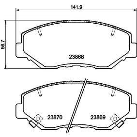 2007 Honda Accord CL7 3.0 Brake Pad Set, disc brake 8DB 355 010-231