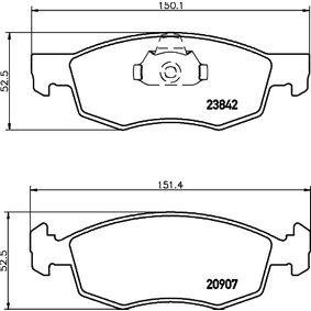 Bremsbelagsatz, Scheibenbremse Breite: 151,2mm, Höhe: 52,3mm, Dicke/Stärke: 18mm mit OEM-Nummer 9 948 870