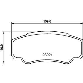 Bremsbelagsatz, Scheibenbremse Breite: 109,5mm, Höhe: 49,9mm, Dicke/Stärke: 20,1mm mit OEM-Nummer 7175 2985