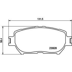 Bremsbelagsatz, Scheibenbremse Breite: 131,6mm, Höhe: 58,3mm, Dicke/Stärke: 17mm mit OEM-Nummer 04465 33 250