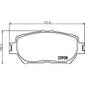 Bremsbelagsatz, Scheibenbremse Breite: 131,6mm, Höhe: 58,3mm, Dicke/Stärke: 17mm mit OEM-Nummer 04465 33250