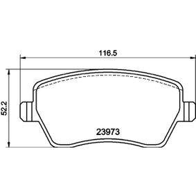 Bremsbelagsatz, Scheibenbremse Breite: 116,3mm, Höhe: 51,9mm, Dicke/Stärke: 17,3mm mit OEM-Nummer 4106000Q0K