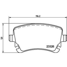 Bremsbelagsatz, Scheibenbremse Breite: 116,5mm, Höhe: 59mm, Dicke/Stärke: 17,7mm mit OEM-Nummer JZW 698 451M