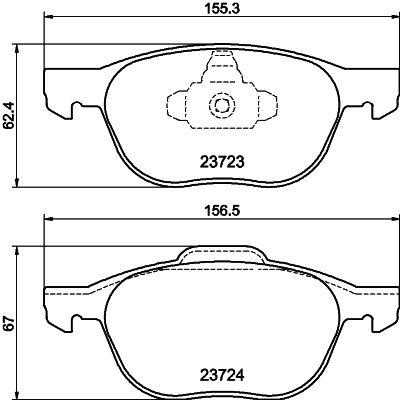 Bremsbeläge 8DB 355 011-191 HELLA 7947D1044 in Original Qualität