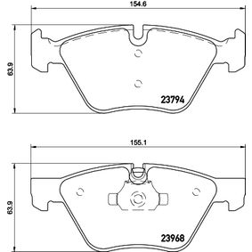 Brake Pad Set, disc brake 8DB 355 011-321 3 Saloon (E90) 330d 3.0 MY 2009