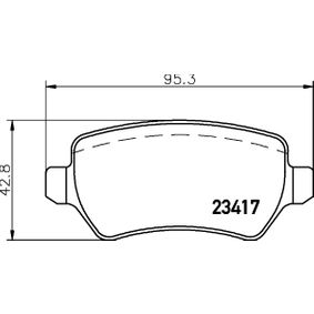 Bremsbelagsatz, Scheibenbremse 8DB 355 011-361 ZAFIRA B (A05) 1.9 CDTI (M75) Bj 2012