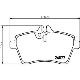 Bremsbelagsatz, Scheibenbremse Breite: 116,4mm, Höhe: 63,7mm, Dicke/Stärke: 19mm mit OEM-Nummer 1694201020