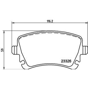 Bremsbelagsatz, Scheibenbremse Breite: 116,2mm, Höhe: 59mm, Dicke/Stärke: 17,7mm mit OEM-Nummer 3D0698451