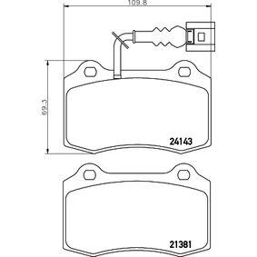 Bremsbelagsatz, Scheibenbremse Breite: 109,7mm, Höhe: 69,3mm, Dicke/Stärke: 15mm mit OEM-Nummer 1ML 698 151