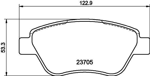 Bremsbeläge 8DB 355 011-871 HELLA 23982 in Original Qualität