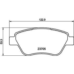 Bremsbelagsatz, Scheibenbremse Breite: 122,8mm, Höhe: 53,3mm, Dicke/Stärke: 17,8mm mit OEM-Nummer 7 736 399 2