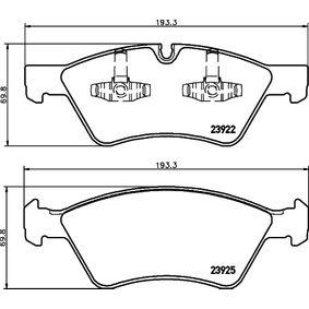 Комплект спирачно феродо, дискови спирачки 8DB 355 012-011 M-класа (W164) ML 320 CDI 3.0 4-matic (164.122) Г.П. 2006