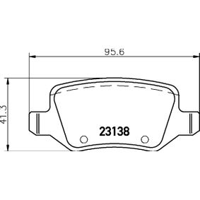 Brake Pad Set, disc brake Width: 95,8mm, Height: 41,3mm, Thickness: 14,6mm with OEM Number A 169 420 0420