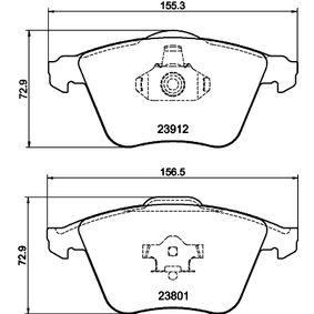 Комплект спирачно феродо, дискови спирачки ширина 1: 156,3мм, ширина 2: 155,1мм, височина: 72,9мм, дебелина: 18,5мм с ОЕМ-номер 23912