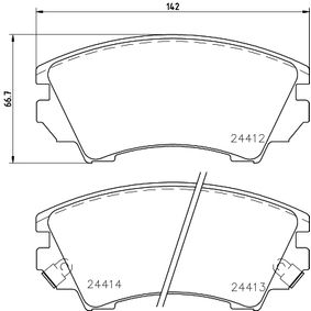 Brake Pad Set, disc brake Width: 142,1mm, Height: 66,7mm, Thickness: 19,1mm with OEM Number 1605317