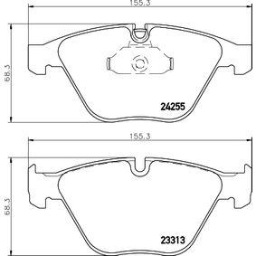 Bremsbelagsatz, Scheibenbremse Breite: 155,1mm, Höhe 2: 68,4mm, Dicke/Stärke: 20,3mm mit OEM-Nummer 3411 2288 858