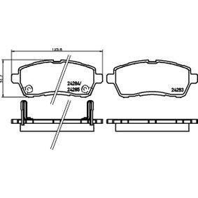 Bremsbelagsatz, Scheibenbremse Breite: 125,6mm, Höhe: 51,7mm, Dicke/Stärke: 15,5mm mit OEM-Nummer 24285