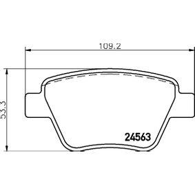 Bremsbelagsatz, Scheibenbremse Breite: 109,3mm, Höhe: 53,3mm, Dicke/Stärke: 17,7mm mit OEM-Nummer 8P0 098 601 P