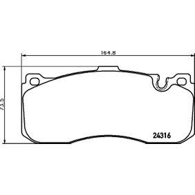 Bremsbelagsatz, Scheibenbremse Breite: 164,8mm, Höhe: 73mm, Dicke/Stärke: 17mm mit OEM-Nummer 3411 6 786 044