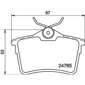 Bremsbelagsatz, Scheibenbremse Breite: 86,8mm, Höhe: 53mm, Dicke/Stärke: 16,6mm mit OEM-Nummer 1611837980