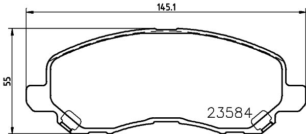 Bremsbeläge 8DB 355 014-131 HELLA 8402D1285 in Original Qualität