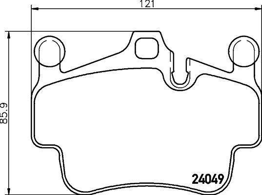 Bremsbeläge 8DB 355 014-161 HELLA 7894BD1135 in Original Qualität
