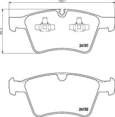 Bremsbeläge 8DB 355 014-191 HELLA 8388D1272 in Original Qualität