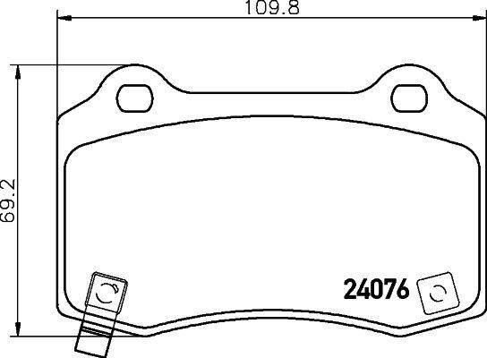 Bremsbeläge 8DB 355 014-211 HELLA 7958D1053 in Original Qualität